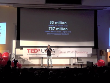 Yoh's disccusion at Ted x UCLA on using Twitter to save lives