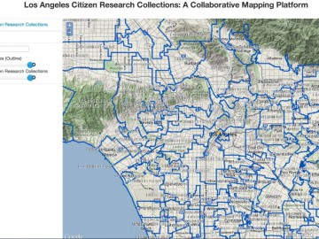 Los Angeles Citizen Research Collection mapping platform