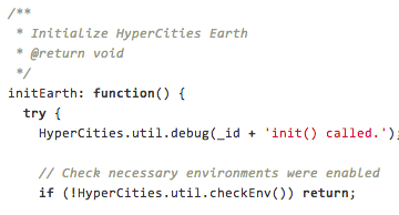 Snapshot of HyperCities source code